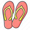 beach, flip flops, footwear, summer icon