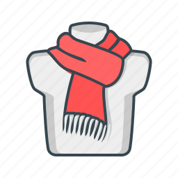 clothes, neck, scarf, woolen icon