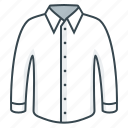 clothes, clothing, fabric, men's, shirt, white icon
