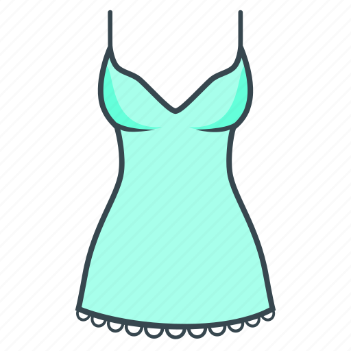 clothes, clothing, dress, nightie, women's icon
