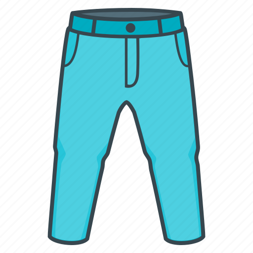 clothes, clothing, jeans, pants, trousers icon