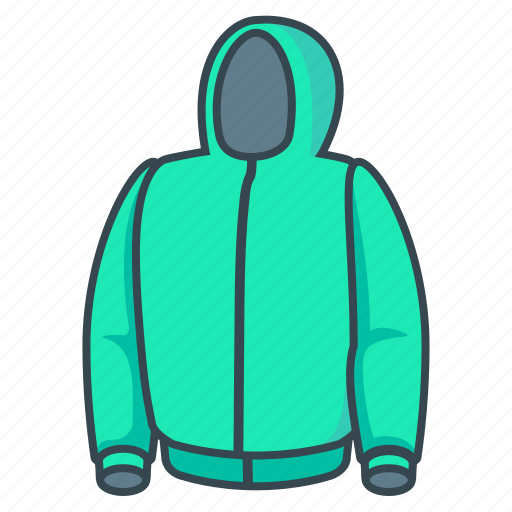 Jacket, hoody, hood icon