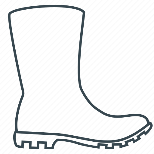 boot, gumboots, riding boot, rubber boots, shoe icon