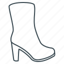 boots, heel, womens boots icon