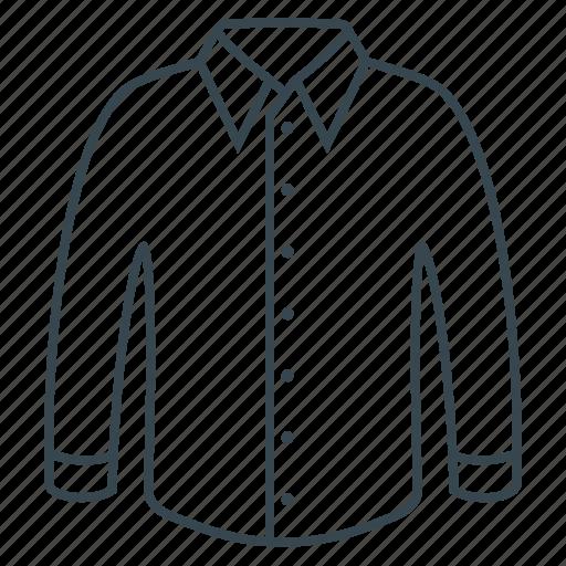 clothes, clothing, fabric, shirt, white icon