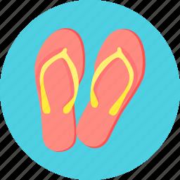 flip, flip flops, flops, footwear icon