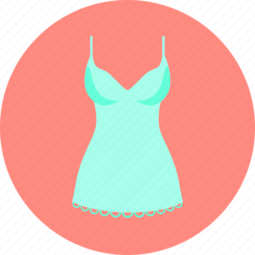 clothes, clothing, dress, nightie, woman icon