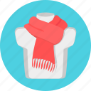 neck, scarf, woolen icon