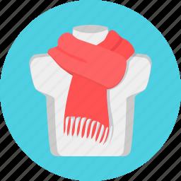 neck, scarf, woolen icon