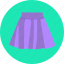 clothes, clothing, fashion, skirt icon