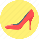 fashion, footwear, heel, high, shoe, slipper, women's slipper icon