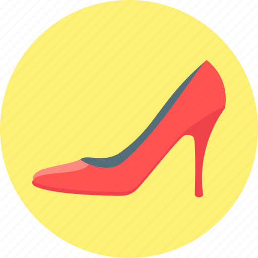 fashion, footwear, heel, high, shoe, slipper, women's slipper icon