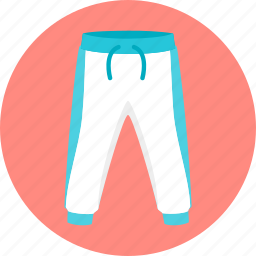 clothes, pants, sport trousers, sports, trousers icon