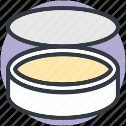 compact powder, cosmetics, makeup, powder case, pressed powder icon