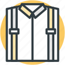 dress shirt, folded shirt, garments, shirt, shirt packaging icon