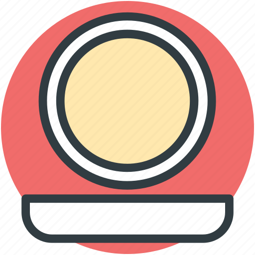 bathroom mirror, mirror, oval mirror, salon mirror, wall mirror icon