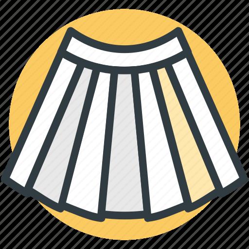 clothing, garments, long skirt, skater skirt, skirt icon