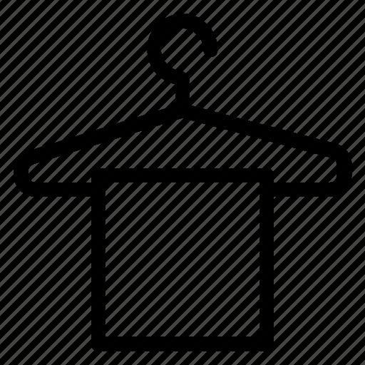 cloth, dry, hanger, hotel, towel icon