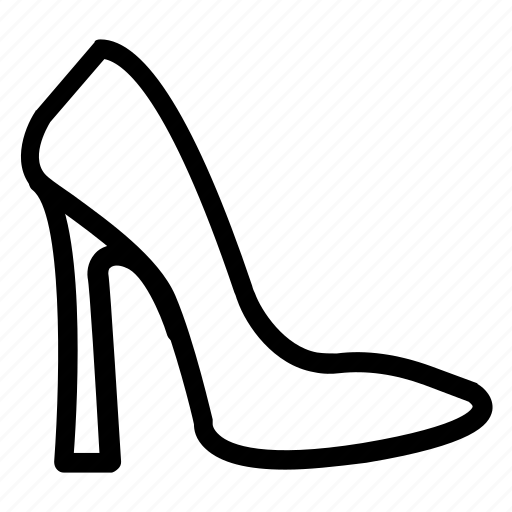 fashion, footwear, girl, heel, sandal icon