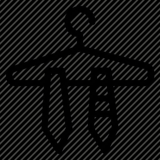 dress, fashion, hanger, office, tie icon