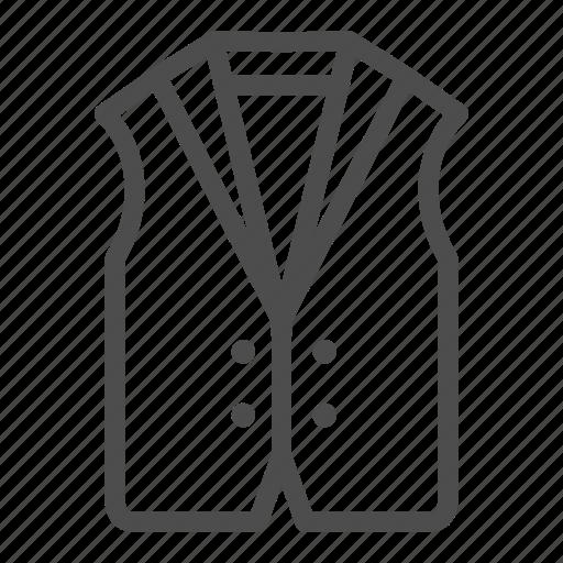 clothes, fashion, vest, waistcoat icon