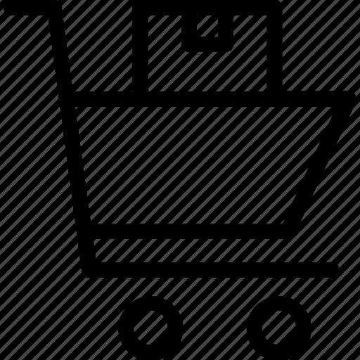 cart, commerce, delivery, e icon icon