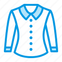 blouse, clothes, clothing, shirt icon