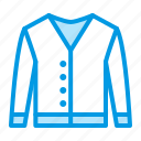 apparel, cardigan, clothes, clothing icon