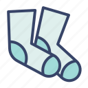 accessories, clothes, fashion, sock icon