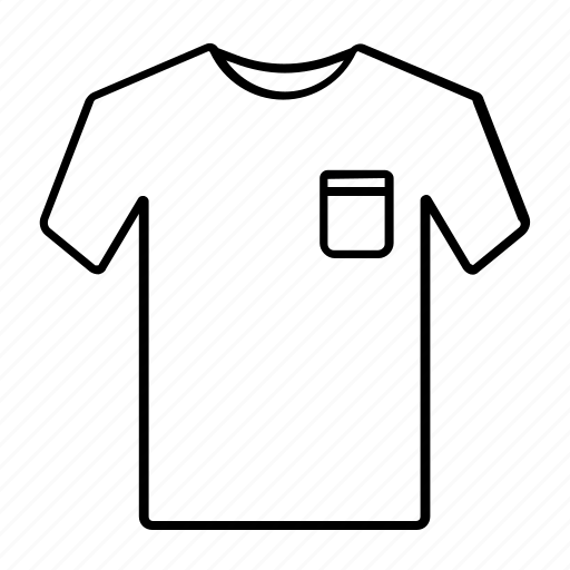 fashion, outline, shirt, stroke, style, t-shirt icon