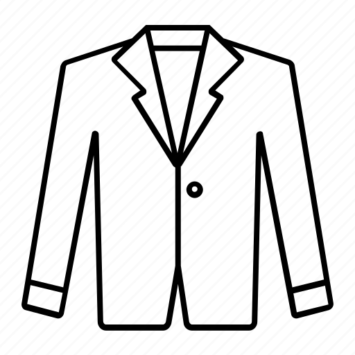 fashion, outline, stroke, style, suit icon