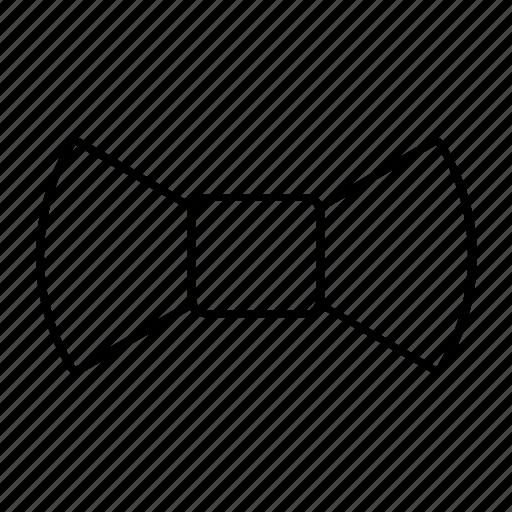 bowtie, fashion, outline, stroke, style icon