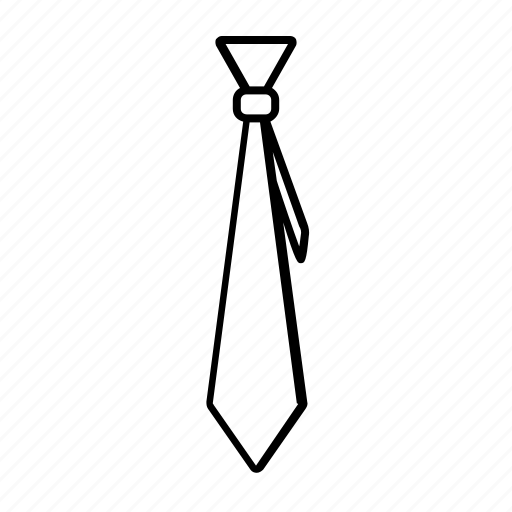fashion, office, outline, stroke, style, tie icon