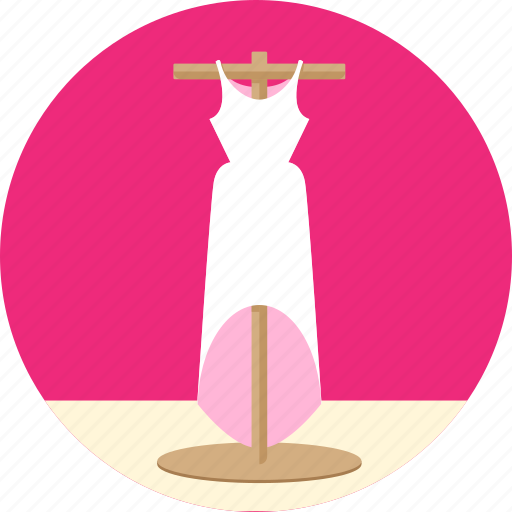 clothes, clothing, dress, fashion, female, formal, frock, gown, lady, woman icon