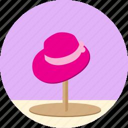 cap, clothing, dress, fashion, female, hat, lady, style, wear, woman icon