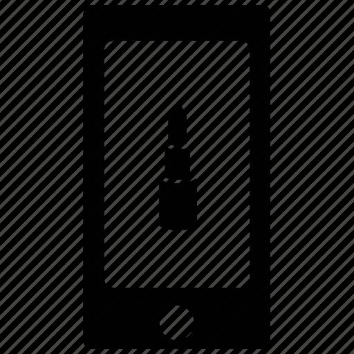 display lipstick, screen, smartphone, tablet icon