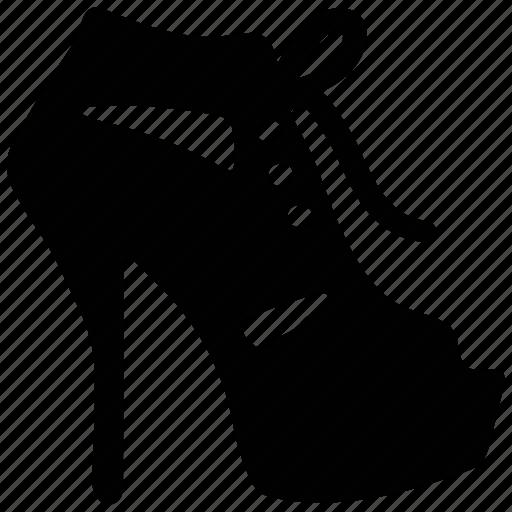 fancy, high heel, open-toed, sandal, women's icon