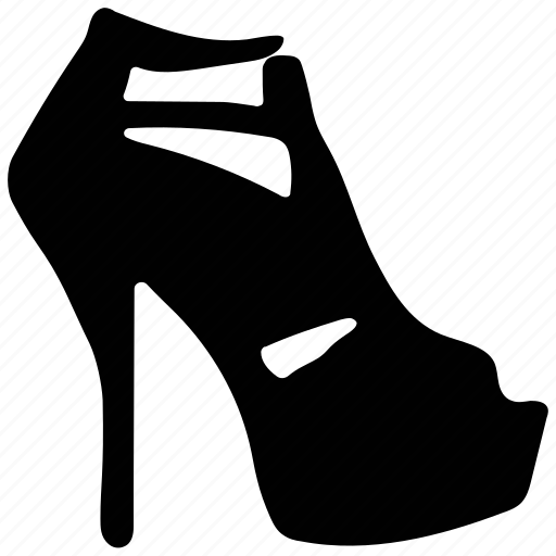 fashion, high heel, ladies, ladies sandal icon