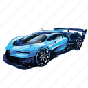 blue, bugatti, car, cars, gran, turismo, vision icon