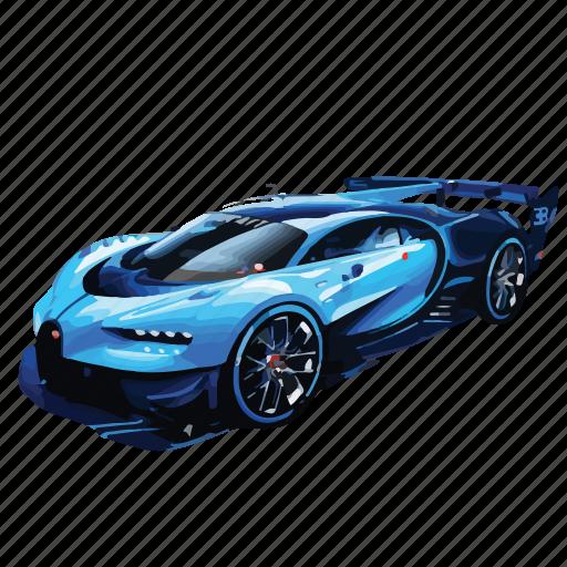 blue, bugatti, car, cars, gran, turismo, vision icon