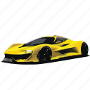 car, cars, f1, mclaren, yellow icon