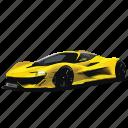 car, cars, f1, mclaren, yellow icon