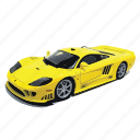 car, cars, s7, saleen, turbo, twin, yellow icon