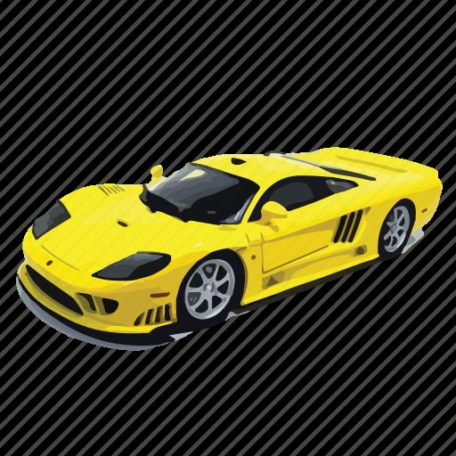 car, cars, s7, saleen, turbo, twin, yellow icon