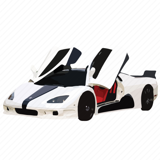 car, cars, shelby, supercar, white icon
