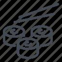 food, roll, rolls, seafood, sushi icon