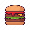 burger, fast food, food, meal, restaurant icon