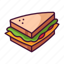 fast food, food, meal, restaurant, sandwich icon