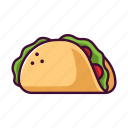 fast food, food, meal, restaurant, taco icon