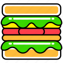fast, fast food, food, french, junk, meal, sandwich
